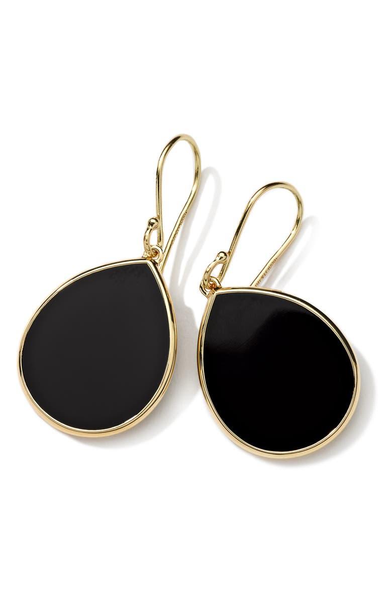 IPPOLITA 'Rock Candy - Mini Teardrop' 18k Gold Earrings, Main, color, 710