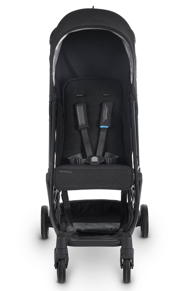 UPPABABY Minu Stroller, Main, color, JAKE BLACK/ CARBON/ LEATHER