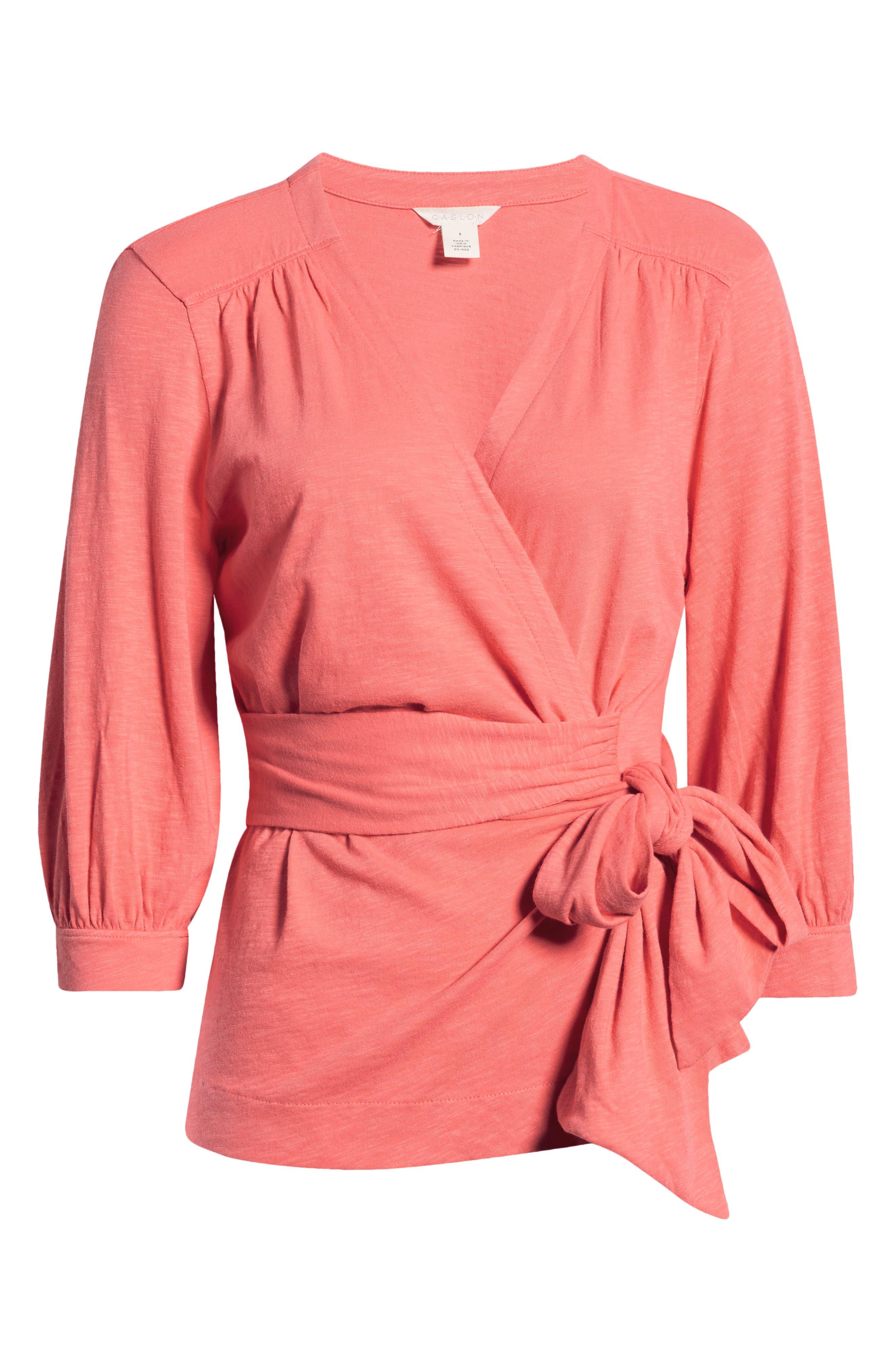Women's Caslon Jersey Wrap Top