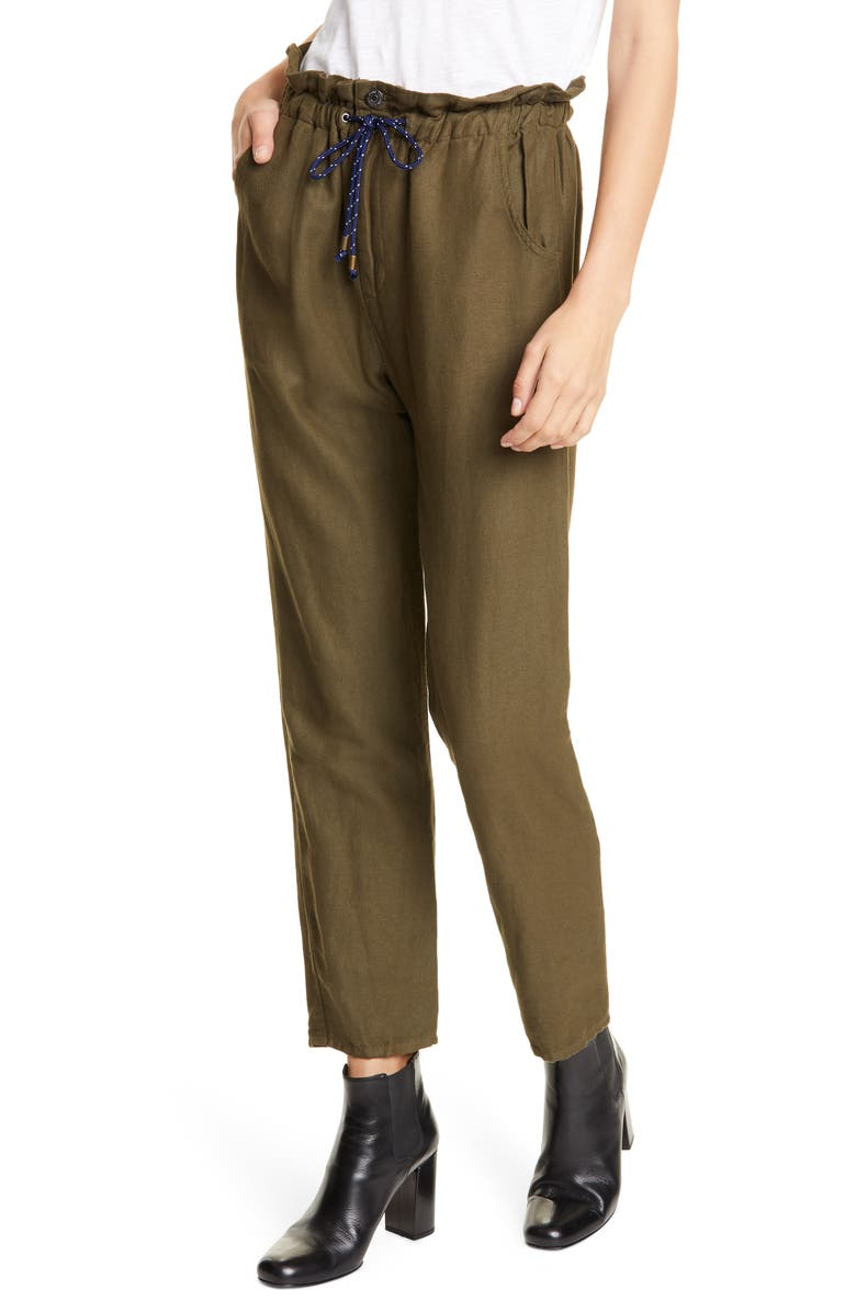 VERONICA BEARD Jay Ankle Carrot Pants, Main, color, ARMY