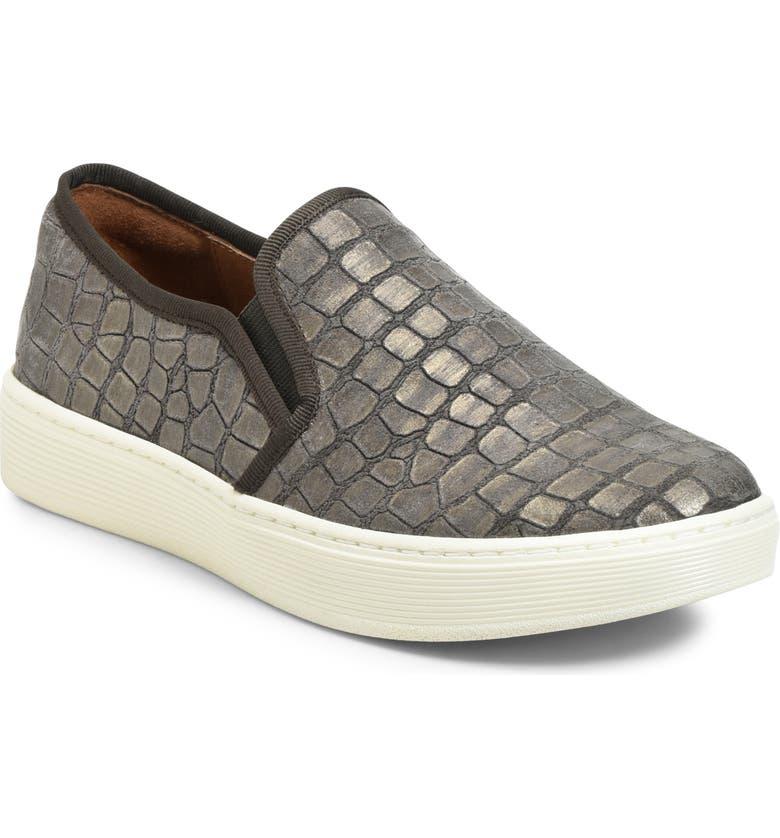 SÖFFT 'Somers' Slip-On Sneaker, Main, color, GREY NUBUCK
