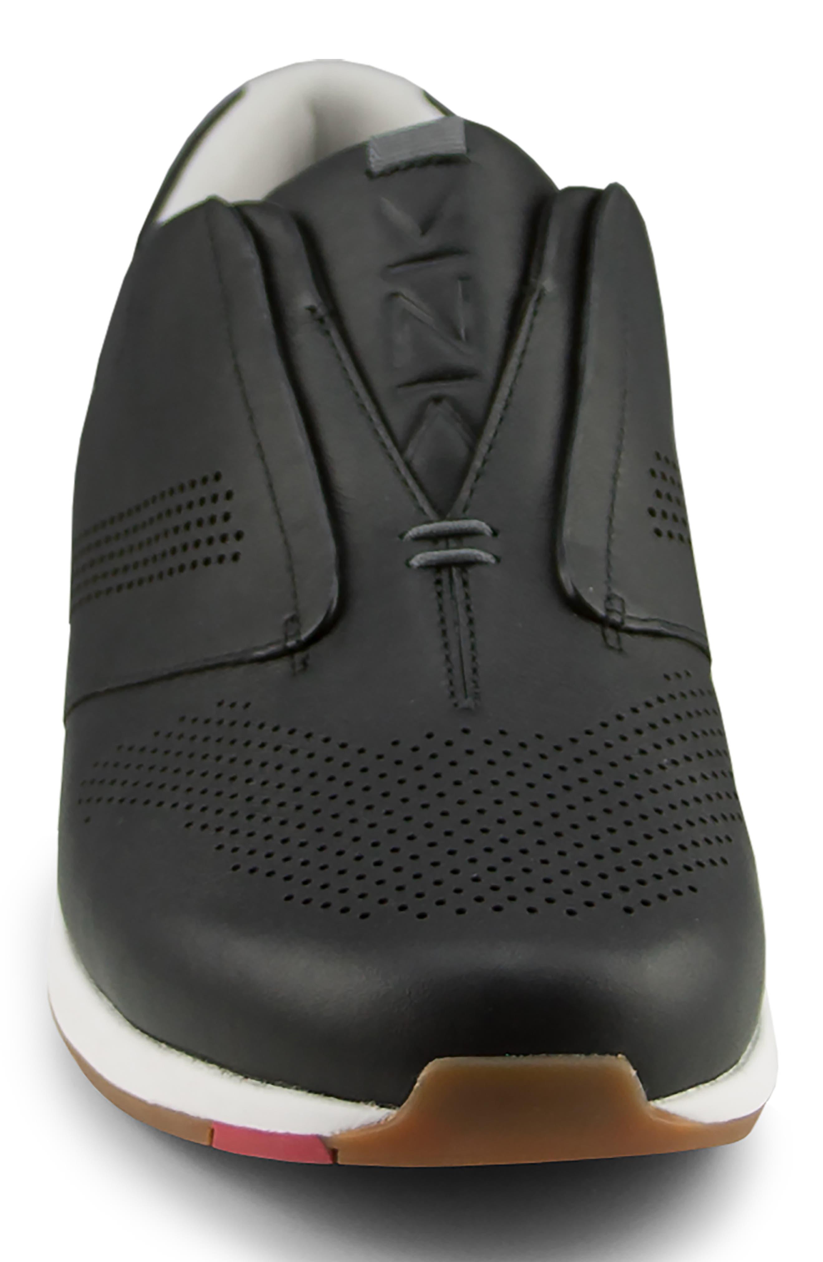 ,                             Dubai Slip-On Sneaker,                             Alternate thumbnail 3, color,                             BLACK LEATHER