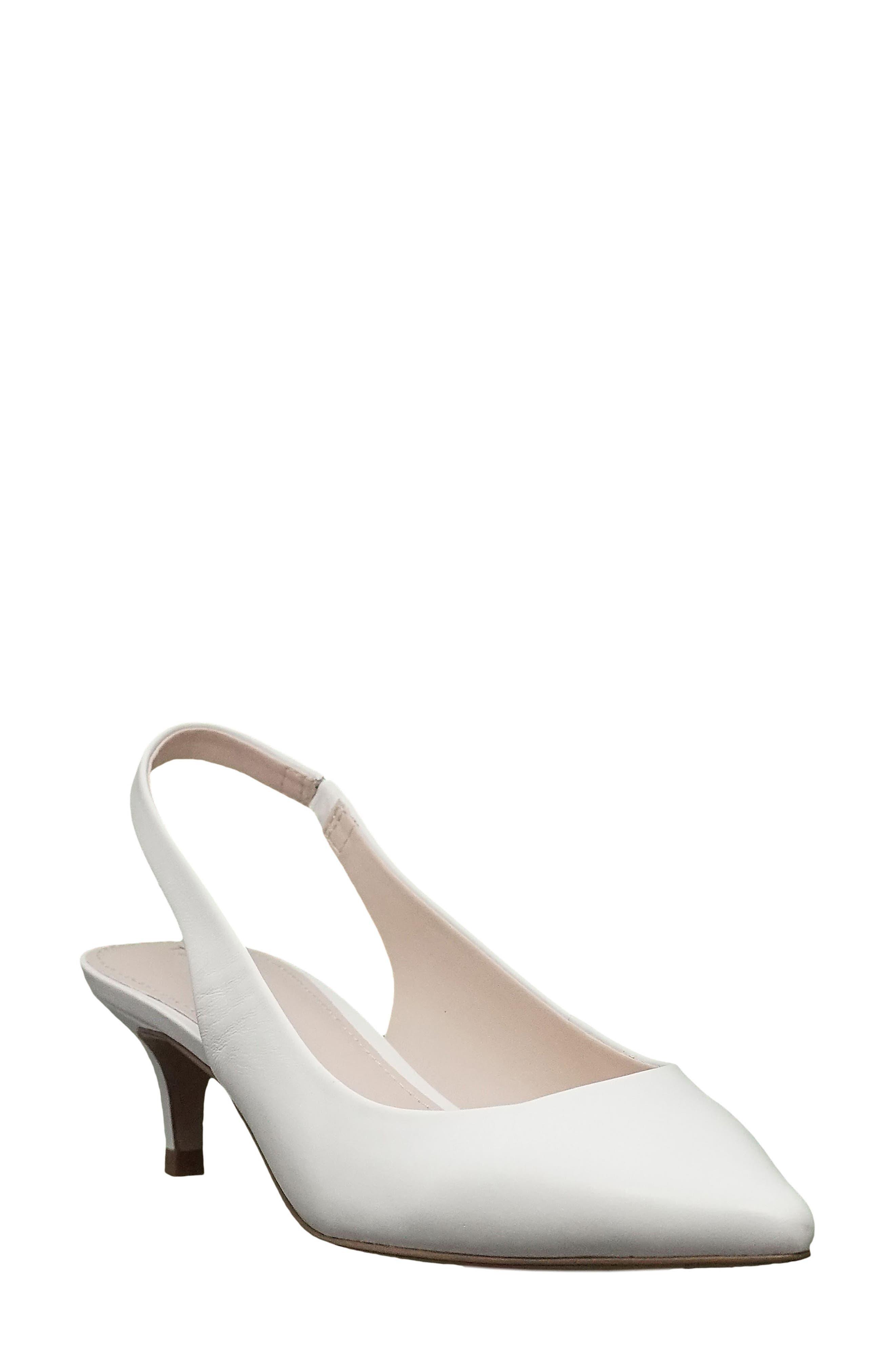 Tahari Finnley Slingback Pump- White