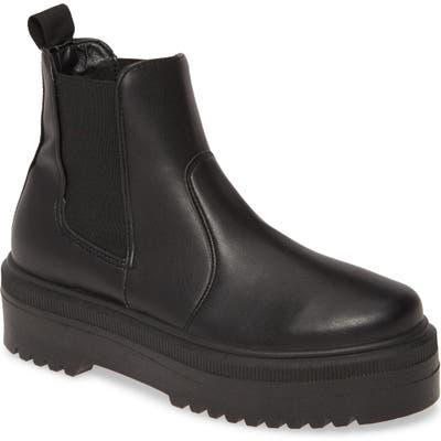 Steve Madden Yardley Platform Chelsea Boot, Black
