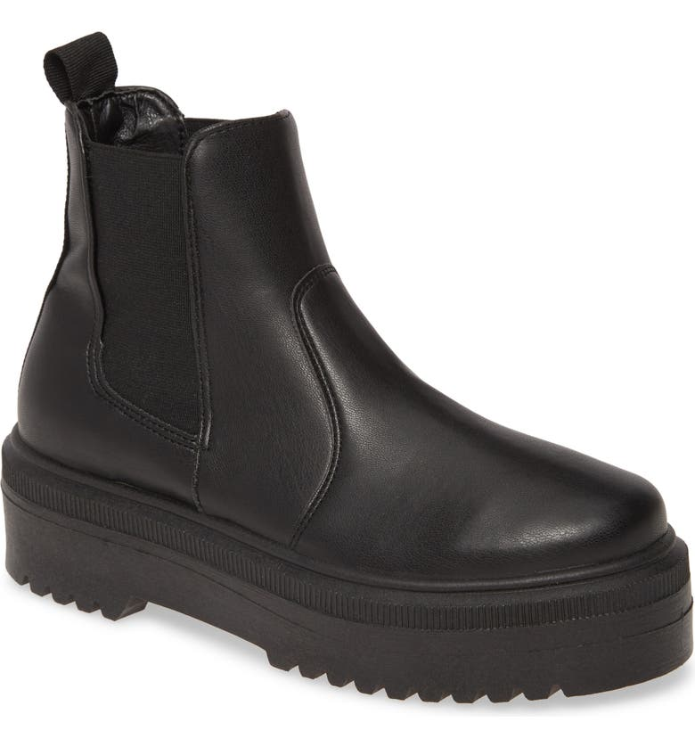 STEVE MADDEN Yardley Platform Chelsea Boot, Main, color, BLACK