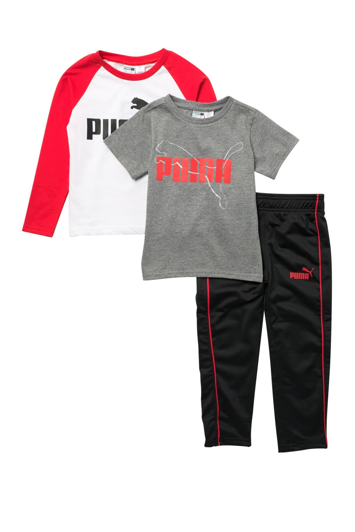Image of PUMA Jersey 3-Piece T-Shirt & Pants Set