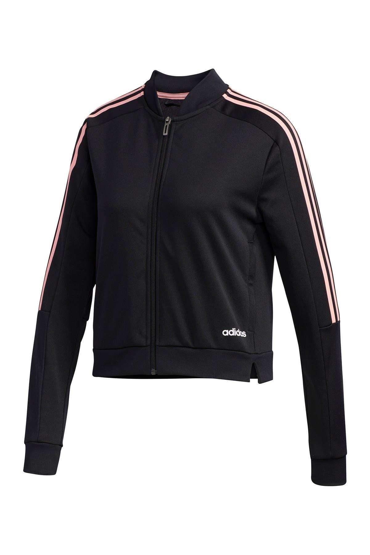 Image of adidas Climalite 3-Stripes Zip Track Jacket
