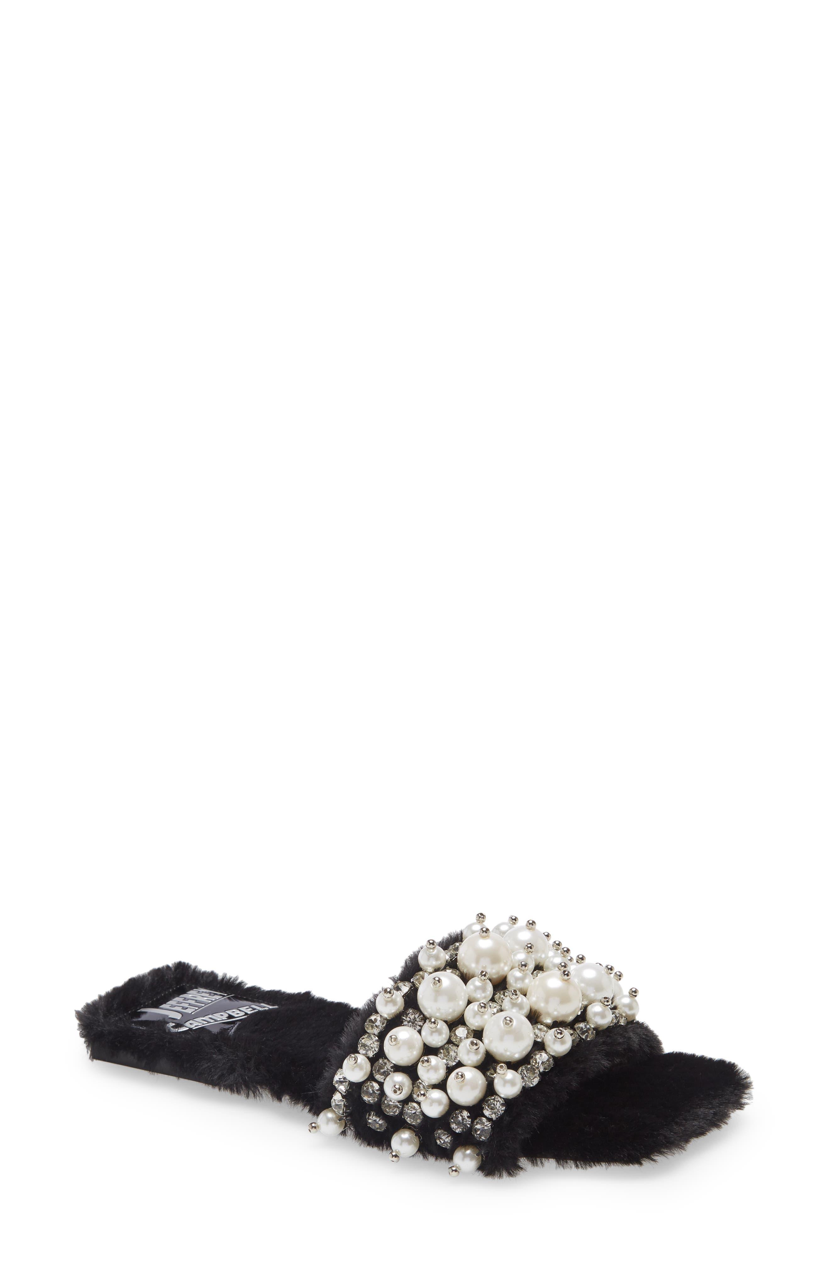 Facile Faux Fur Slide Sandal