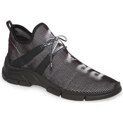 Prada Hologram Knit Sneaker, Black