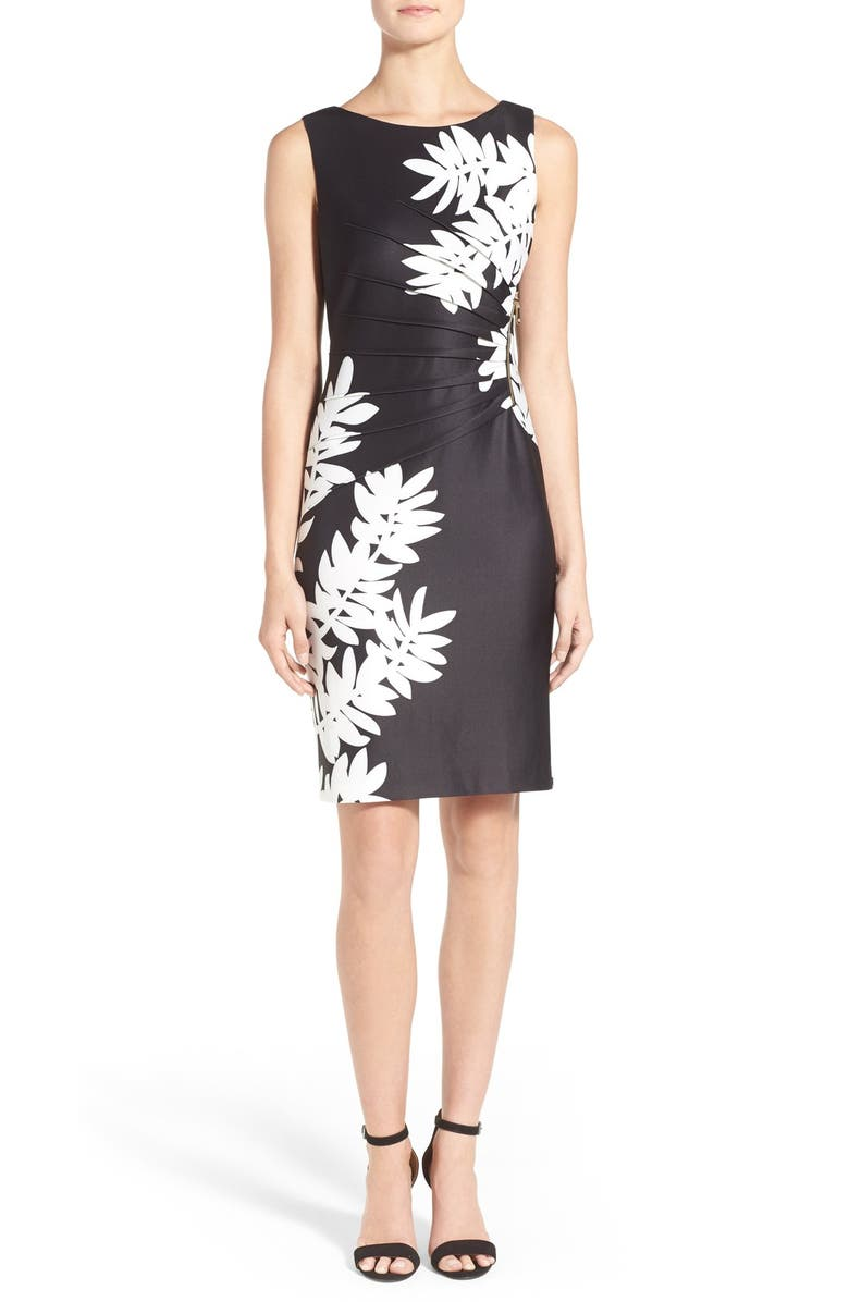 b8e7d973 Ivanka Trump 'Starburst' Leaf Print Scuba Sheath Dress | Nordstrom
