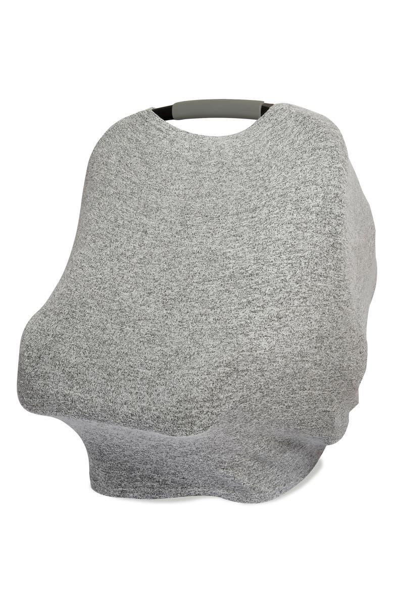 ADEN + ANAIS Snuggle Knit Multi-Use Cover, Main, color, HEATHER GREY