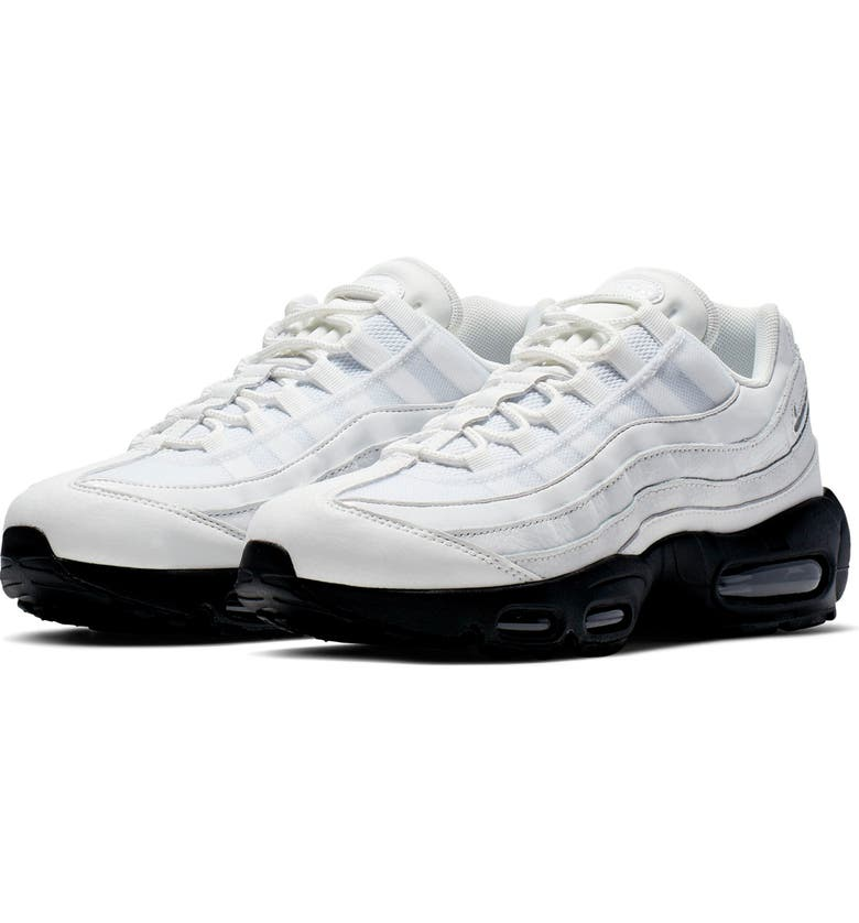 NIKE Air Max 95 SE Running Shoe, Main, color, SUMMIT WHITE/ BLACK