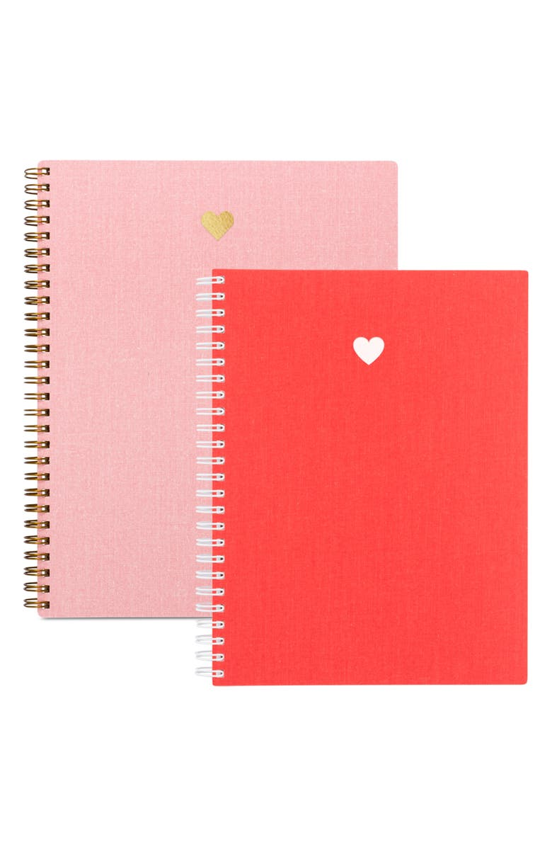 APPOINTED Valentine Heart Set of 2 Notebooks, Main, color, 650