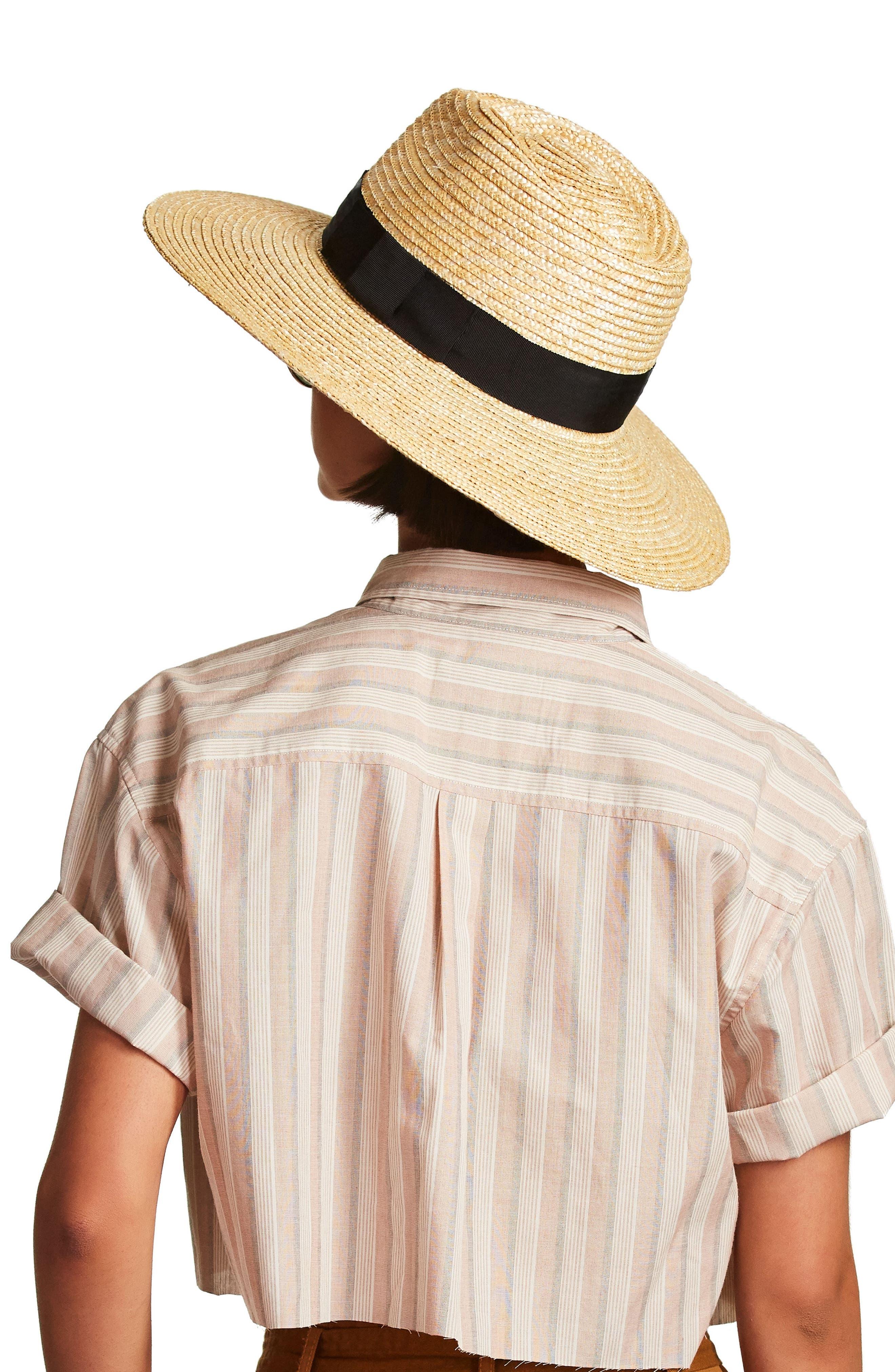 ,                             'Joanna' Straw Hat,                             Alternate thumbnail 10, color,                             HONEY