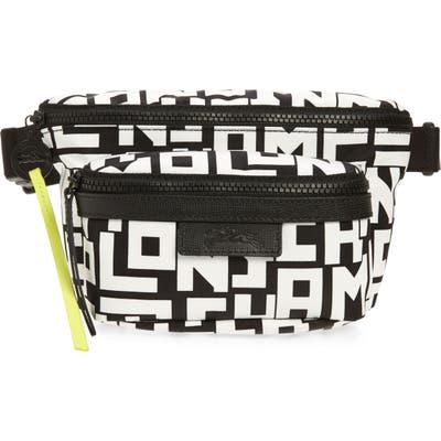 Longchamp Medium Le Pliage Logo Nylon Belt Bag - Black