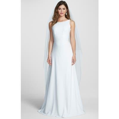 Jesus Peiro Embellished V-Back Crepe Dress