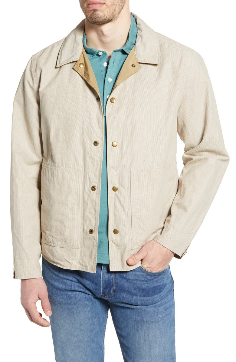BILLY REID Reversible Shirt Jacket, Main, color, KHAKI