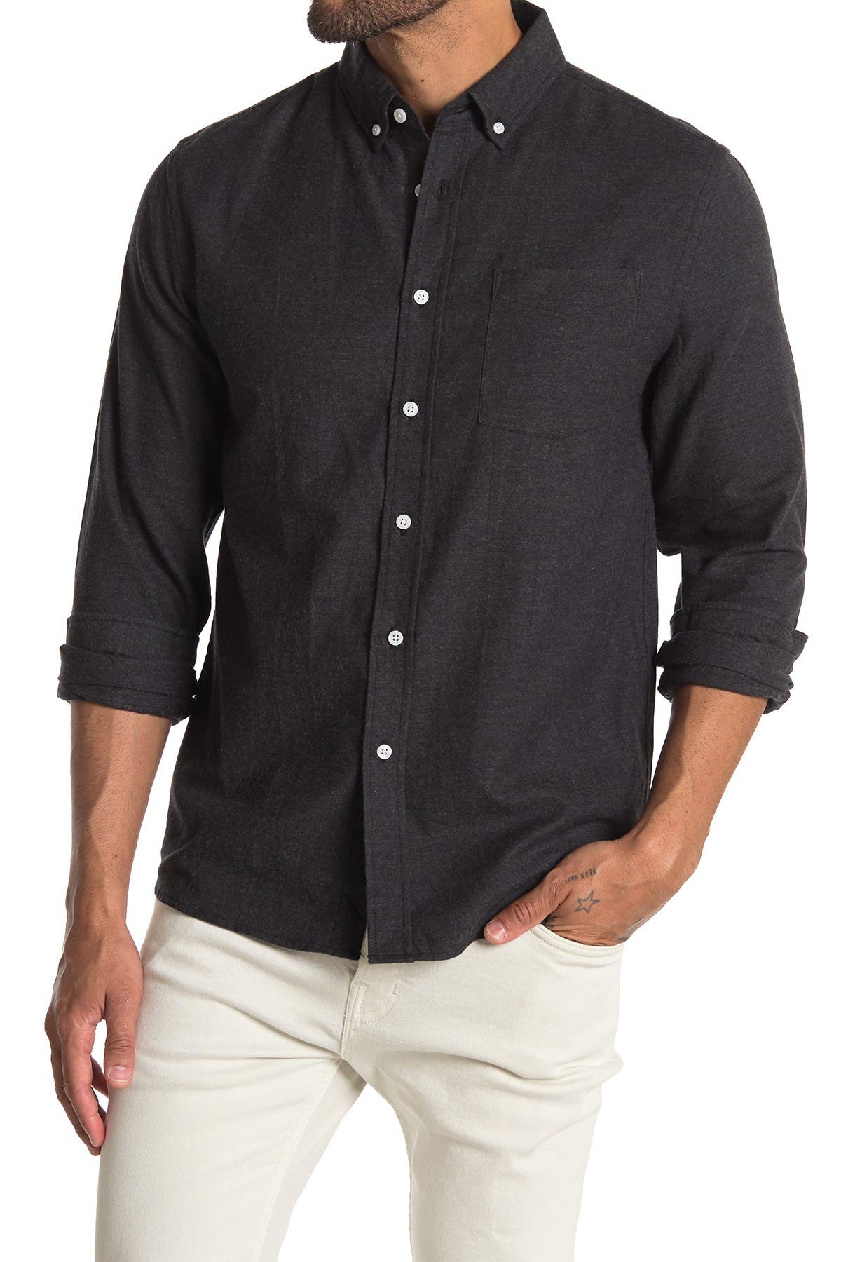 Image of SATURDAYS NYC Crosy Flannel Oxford Shirt