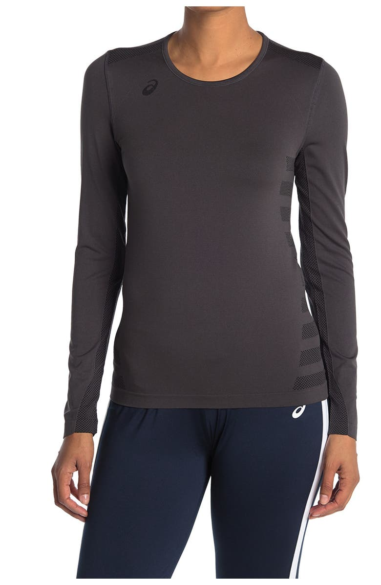 Asics Tactic Court Long Sleeve Women's Volleyball Jersey (Grey)