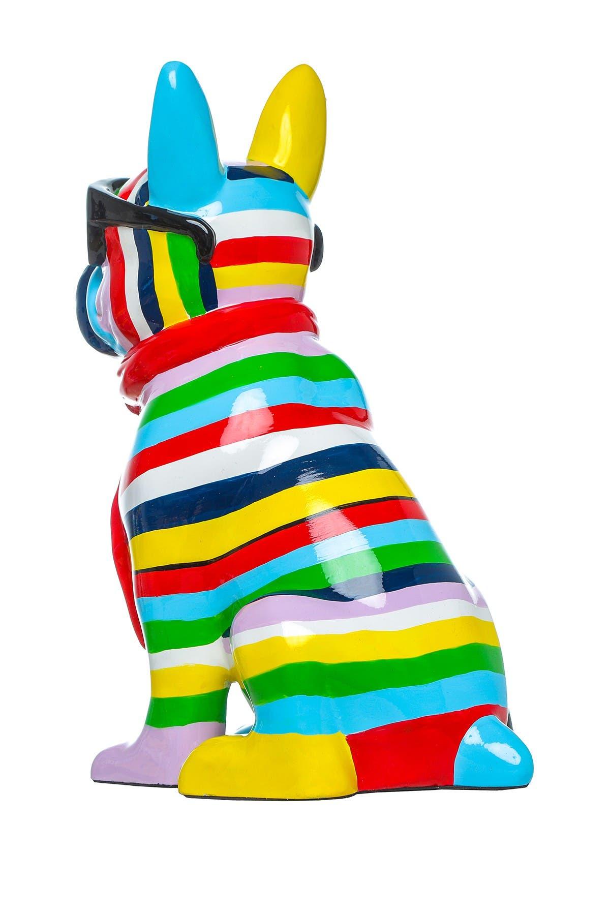 Image of Interior Illusions Stripe Dog with Black Glasses