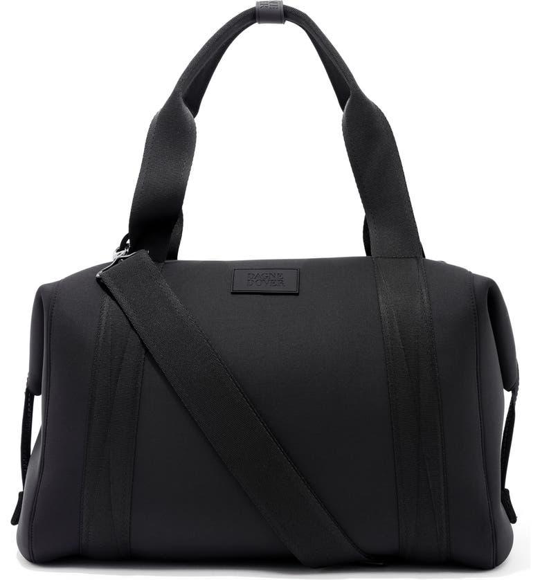 DAGNE DOVER 365 Large Landon Neoprene Carryall Duffle Bag, Main, color, ONYX
