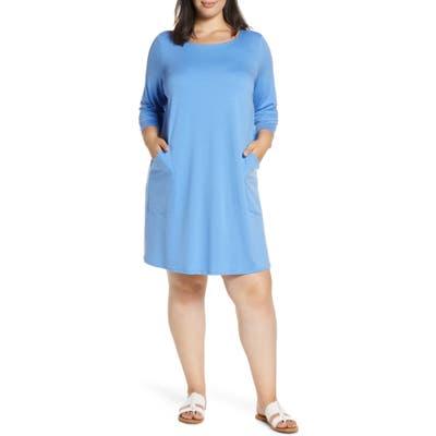 Plus Size Eileen Fisher Knit Dress, Blue