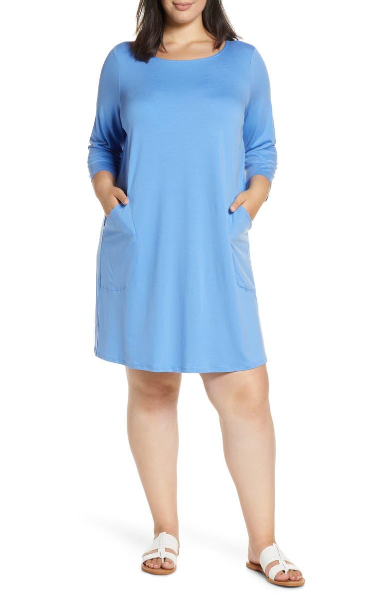 EILEEN FISHER Knit Dress, Main, color, HORIZON