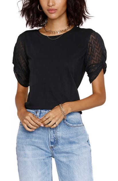 Heartloom JOLENE SHEER SLEEVE KNIT TOP