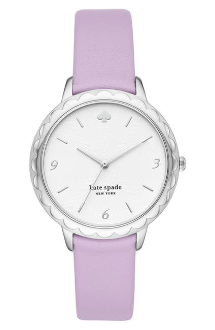 Image of kate spade new york women's lilac leather strap watch, 38mm