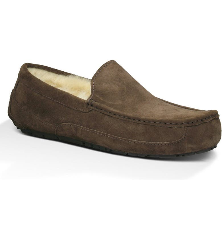 UGG<SUP>®</SUP> Ascot Slipper, Main, color, ESPRESSO SUEDE