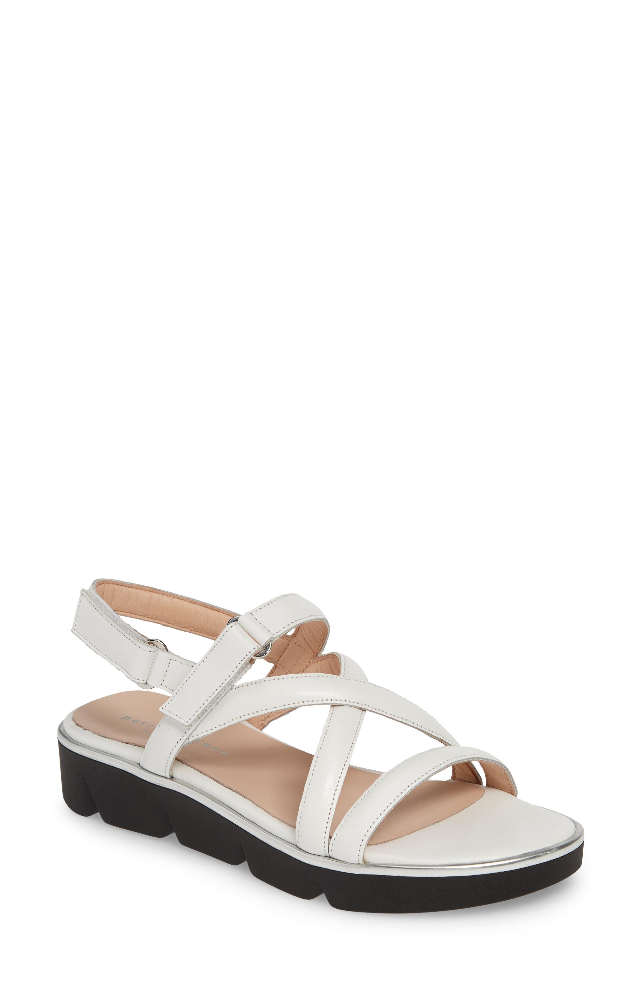 Patricia Green Capri Platform Slingback Sandal, White