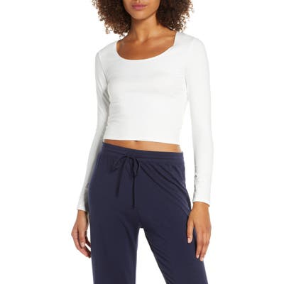 Groceries Apparel Lola Stretch Organic Cotton Crop Top, White