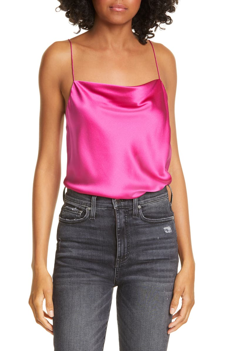 CAMI NYC The Axel Stretch Silk Camisole, Main, color, NEBULA