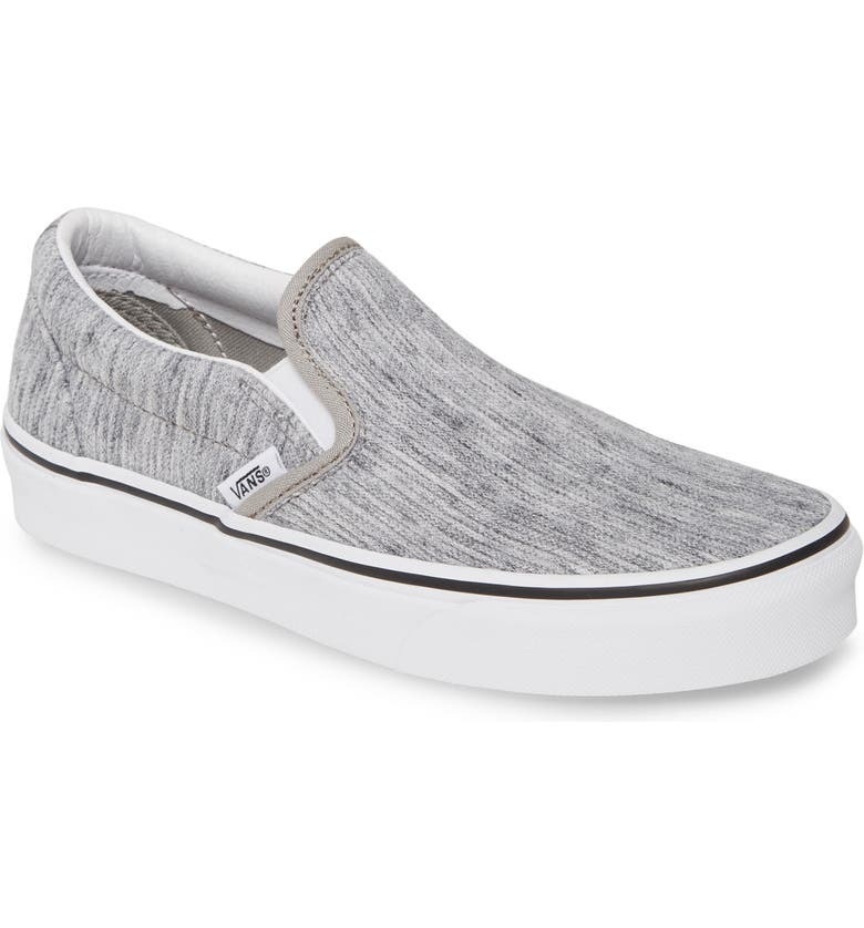 VANS Classic Slip-On Sneaker, Main, color, GREY/ TRUE WHITE