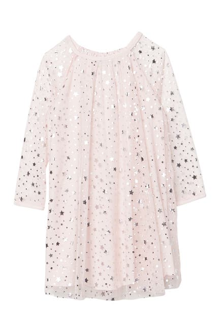 Image of Pastourelle by Pippa and Julie Foil Star Print Swing Dress