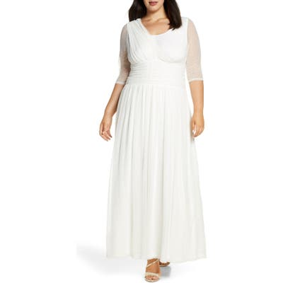 Plus Size Kiyonna Meant To Be Chic Gown, Ivory