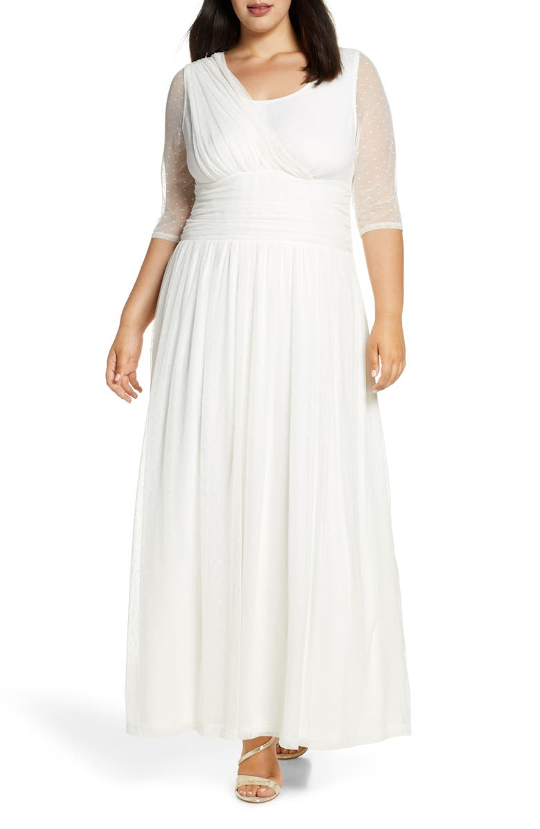 KIYONNA Meant to Be Chic Gown, Main, color, IVORY