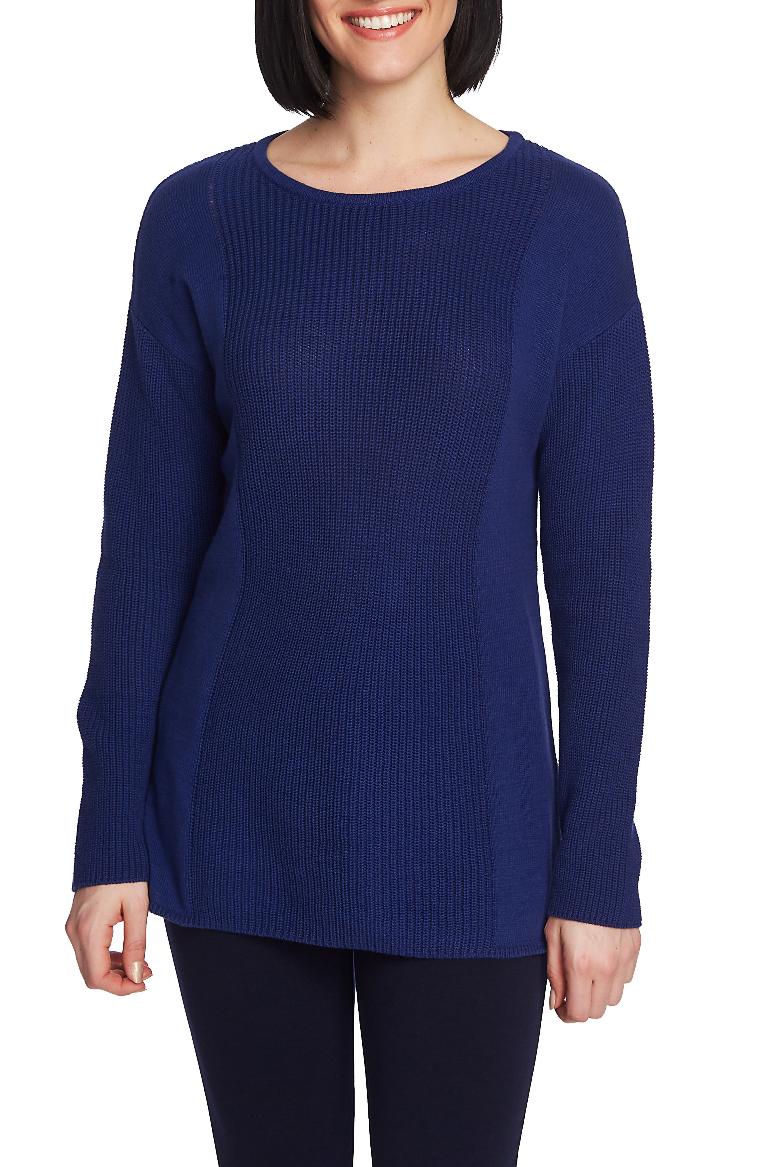 Mixed Gauge Pullover Sweater