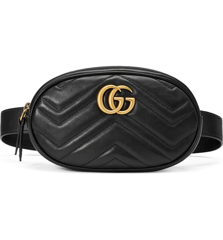 53699f269 GG Marmont 2.0 Matelassé Leather Belt Bag, Main, color, NERO