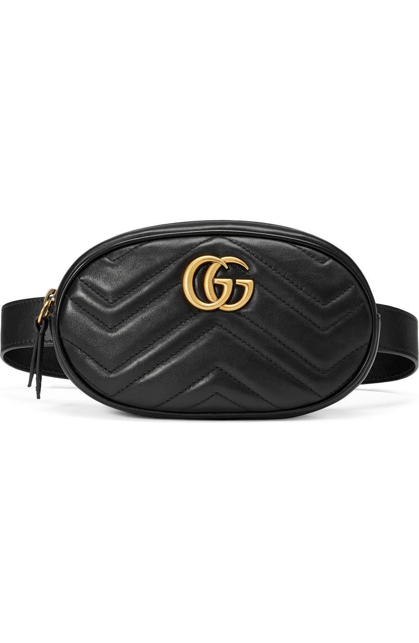 7c88b0fe9e18c7 Gucci GG Marmont 2.0 Matelassé Leather Belt Bag | Nordstrom