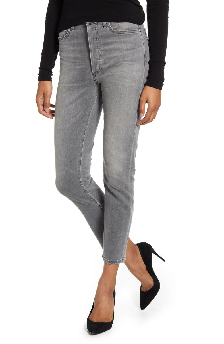 CITIZENS OF HUMANITY Olivia High Waist Slim Ankle Jeans, Main, color, GRANITE