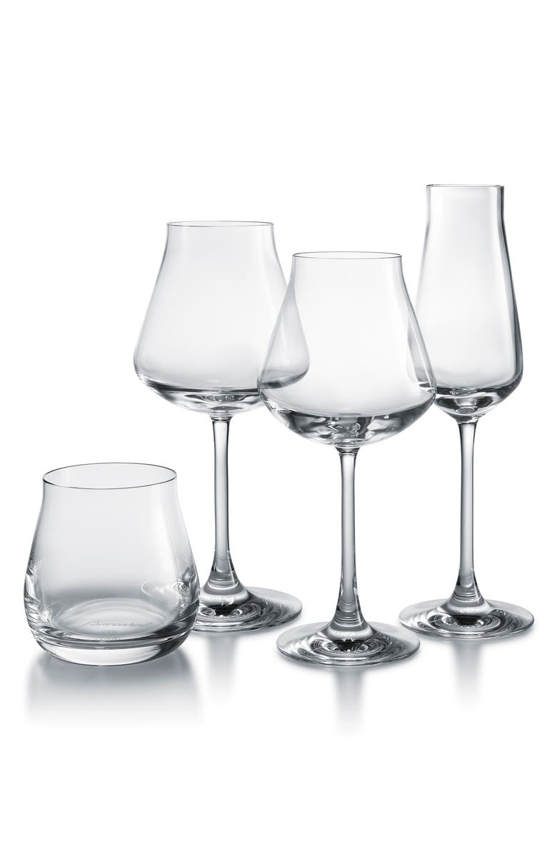 BACCARAT Chateau Baccarat Degustation Set of 4 Lead Crystal Tasting Glasses, Main, color, CLEAR