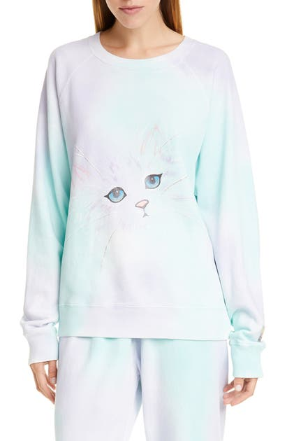 Marc By Marc Jacobs The Marc Jacobs The Airbrushed Sweatshirt In Lilac Multi