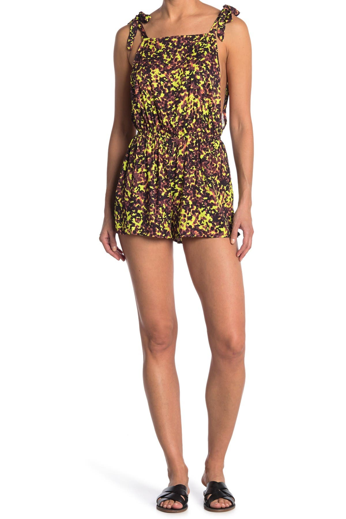 Image of The Bikini Lab Hyp Animal Print Cover-Up Romper