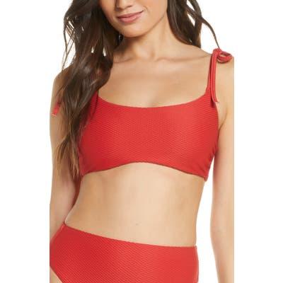 Chelsea28 Easy Retro Bikini Top, Red