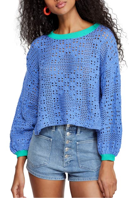 Free People Sweaters HOME RUN CROP SWEATER