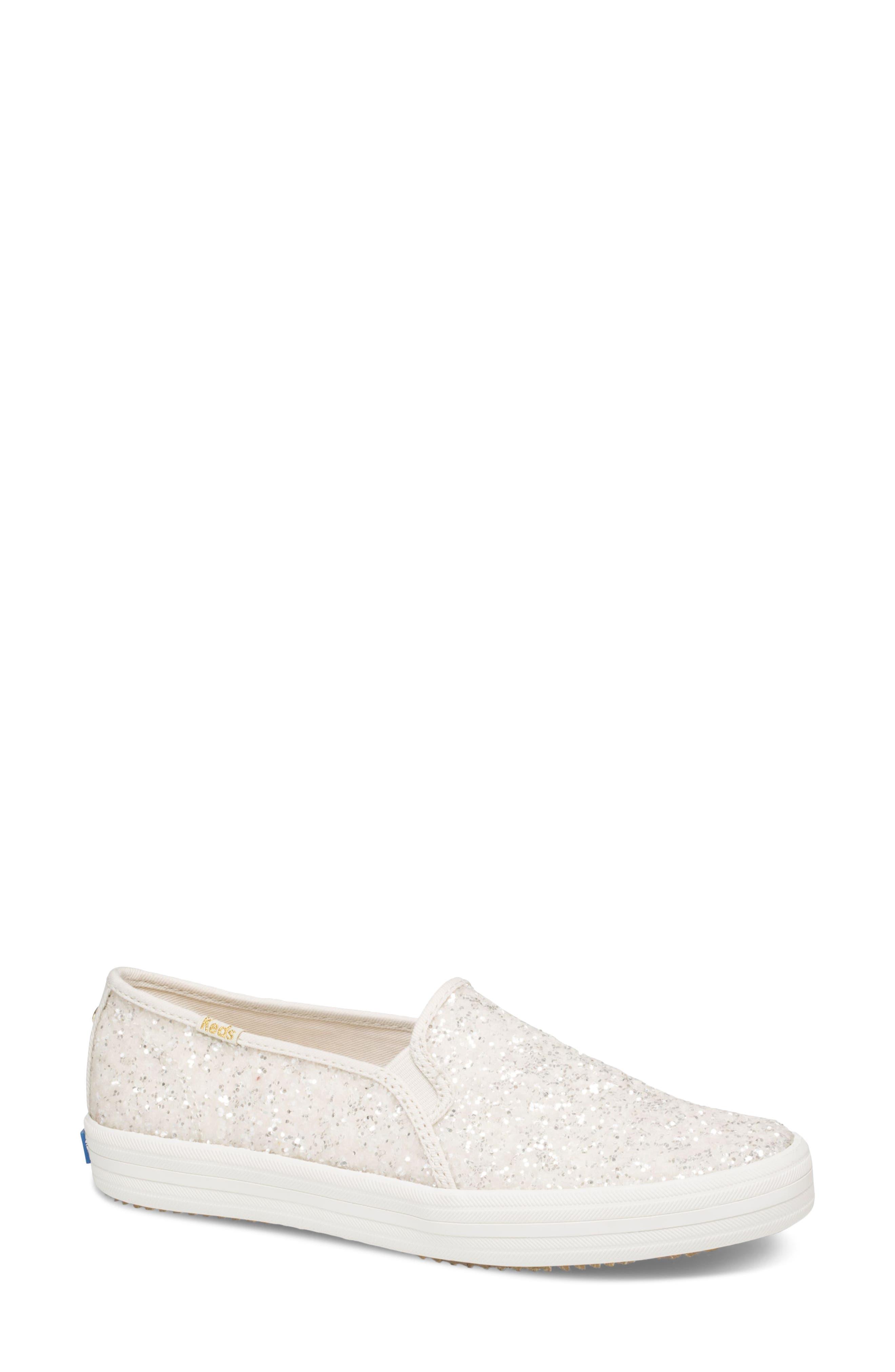 Women's Keds For Kate Spade New York Double Decker Glitter Slip-On Sneaker