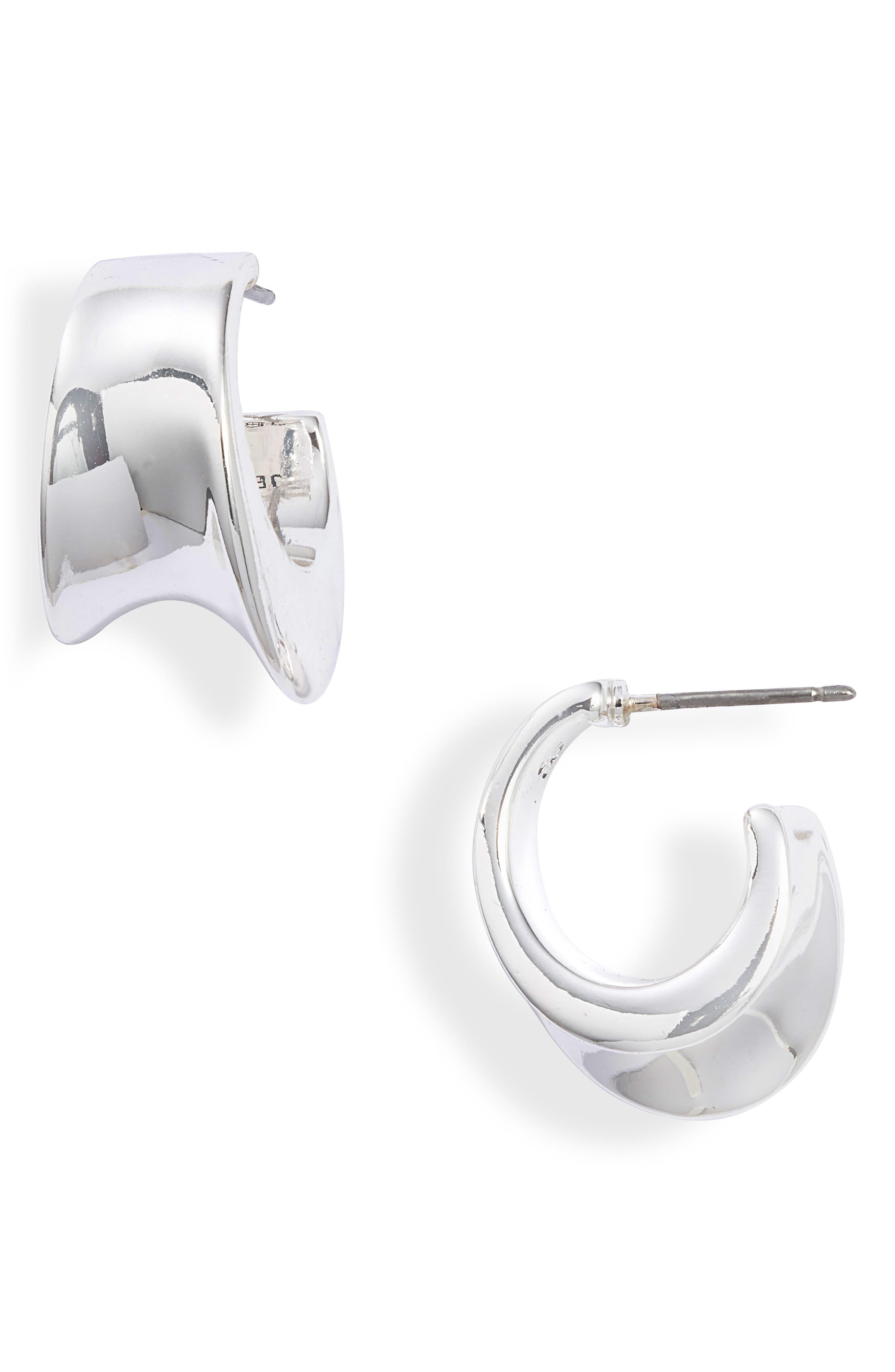 Bellevue Asymmetric Huggie Hoop Earrings