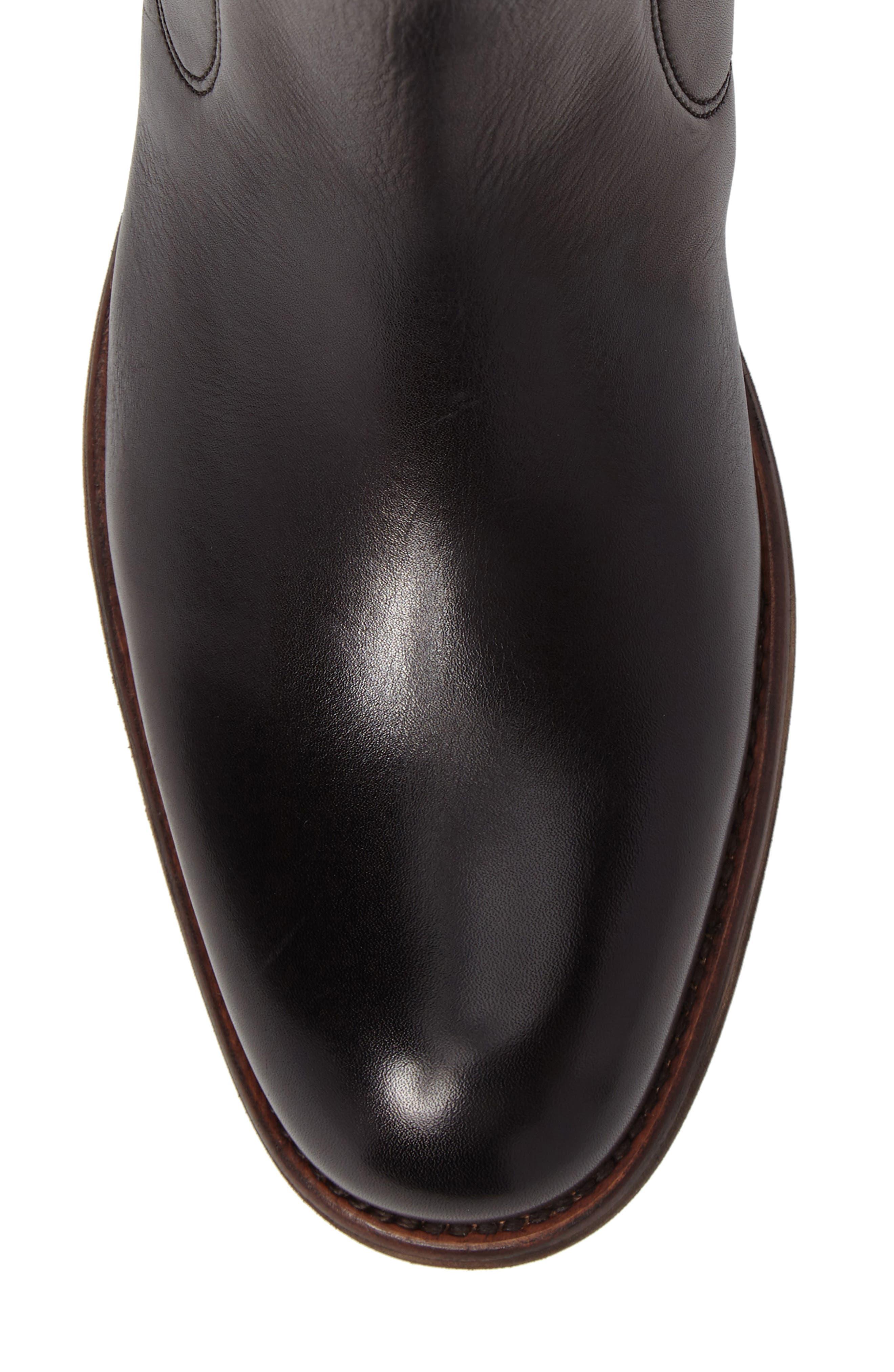 ,                             Waverley Chelsea Boot,                             Alternate thumbnail 5, color,                             BLACK LEATHER