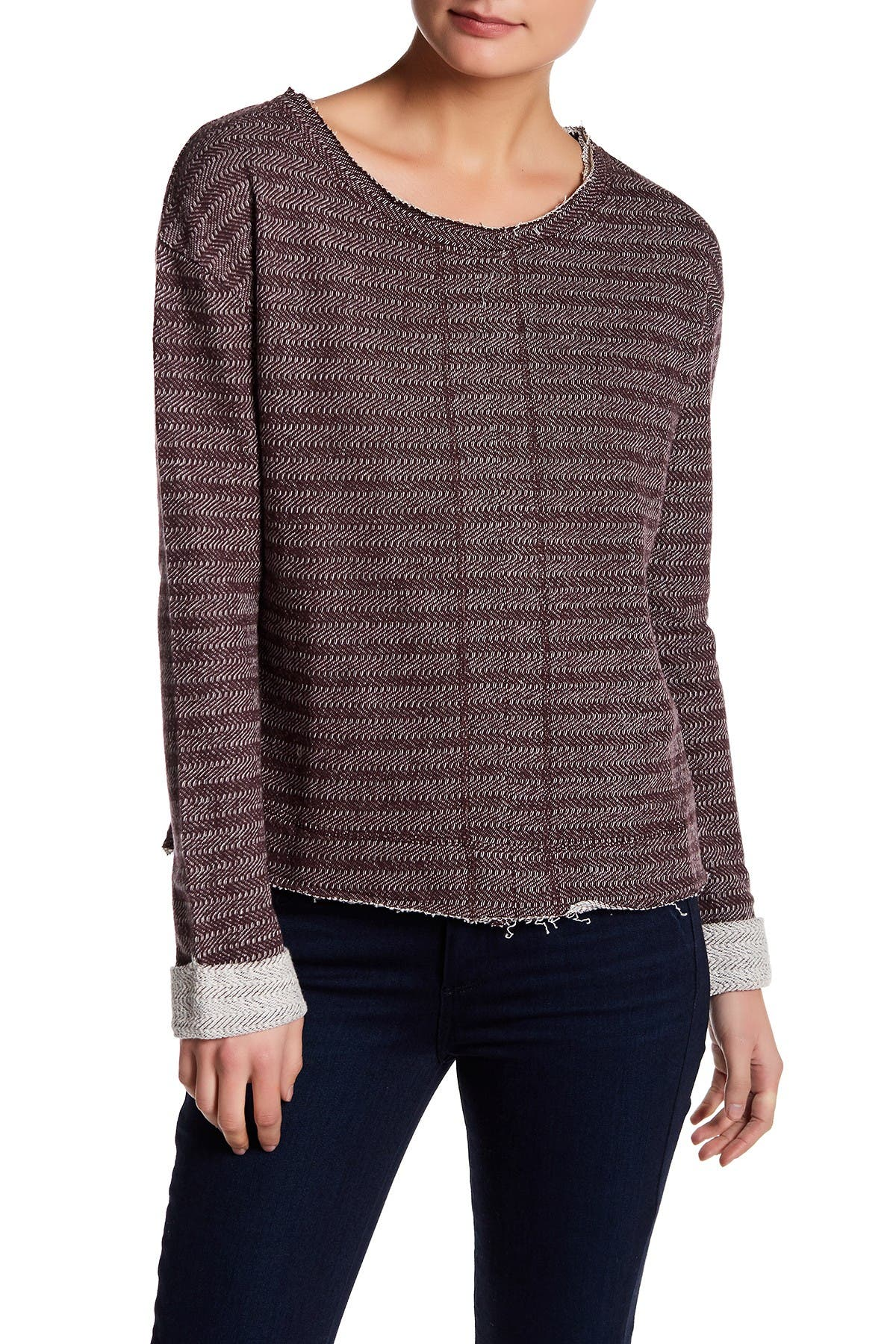 Image of Melrose and Market Herringbone Pullover Sweater